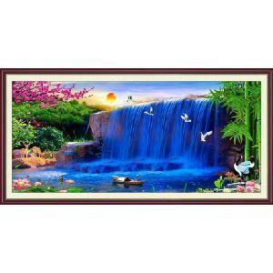 クロスステッチ刺繍キット 夢の滝 図柄印刷|gs-shop