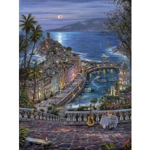 ししゅう糸 DMC糸 クロスステッチ刺繍キット 布地に図柄印刷 地中海夜風景 gs-shop