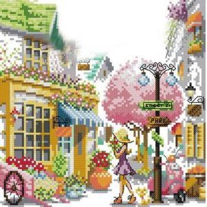 クロスステッチ 刺繍キット 春小町 (DMC刺繍糸) f510|gs-shop