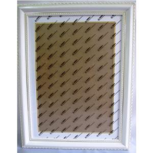 木製額縁 クロスステッチ額 刺繍額 ストーン画額 サイズ内径(縦+横) 75 マット紙付き (ホワイトゴールド) gs-shop
