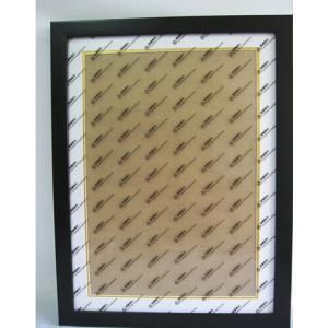木製額縁 クロスステッチ額 刺繍額 ストーン画額 サイズ内径(縦+横) 75 マット紙付き (ブラック) … gs-shop