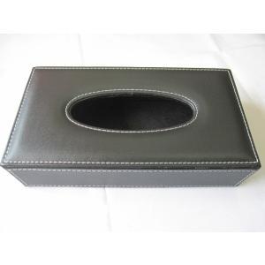 ブラック レザーティッシュボックス ティッシュケース gs-shop
