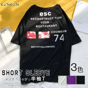 Tシャツ メンズ 半袖 ゆったり 大きいサイズ きれいめ ファッション 送料無料|gsgs-shopping