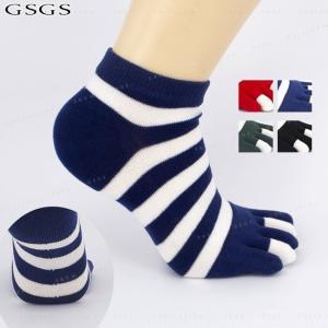 5本指ソックス 靴下 レディース 良く伸びる 秋 冬 春 ソックス おしゃれ ゆったりソックス ストライプ gsgs-shopping