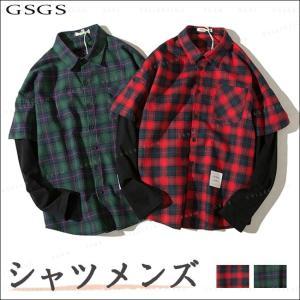 メンズ シャツ 長袖 カジュアルシャツ 春新作 長袖シャツ メンズ トップス 夏 春物 春服 大きいサイズ メンズシャツ gsgs-shopping