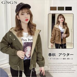 レディースファッション コート トレンチコート ジャケット ショート丈 フード付き 格好いい アウトドア 春ファッション gsgs-shopping