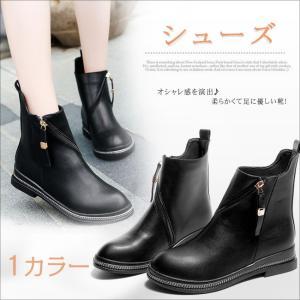 ローヒール ブーツ ブーティ ハイカット 紐 カジュアル ファッション レディース靴 シューズ レースアップシューズ  韓国風  プラット ファスナー|gsgs-shopping
