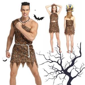 ハロウィン コスプレ コスチューム 衣装 仮装 野獣 大人用 男性 女性 ヒョウ柄 虎柄 セット ベルト 肌魅せ セクシー|gsgs-shopping