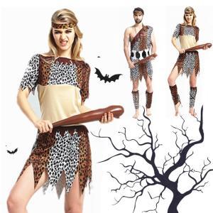 ハロウィン コスプレ コスチューム 衣装 仮装 野獣 大人用 男性 女性 ヒョウ柄 虎柄 セット ベルト シンプル ミドル 野人 ストライプ 骨|gsgs-shopping
