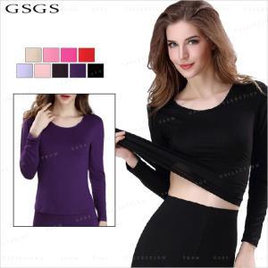 送料無料 キャミソール レディース 裏起毛 長袖 無地 シンプル カジュアル 暖か 柔らか 肌着|gsgs-shopping