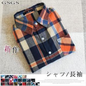 シャツ 長袖 レディース フォーマル 秋の新作 チェック柄 誰でも着やすいベーシックなナチュラルコート ゆったり 着痩せ|gsgs-shopping