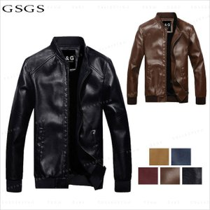 送料無料 レザージャケット メンズ レザーコート ライダース  メンズアウター 大きいサイズ  PU|gsgs-shopping