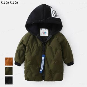 中綿コート 男の子 ジャケット フード付き 冬着 ロング丈 防寒 保温 キッズコート キッズ服 アウター 可愛い コート|gsgs-shopping