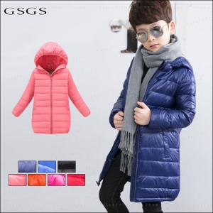 ダウンコート 男の子 女の子 フード付き 冬着 ロング丈 防寒 保温 キッズコート キッズ服 アウター 可愛い  コート|gsgs-shopping
