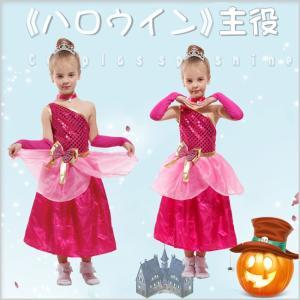 ハロウィン コスプレ コスチューム 衣装 仮装 子供用 赤 リボン プリンセス レース 首輪 妖精|gsgs-shopping