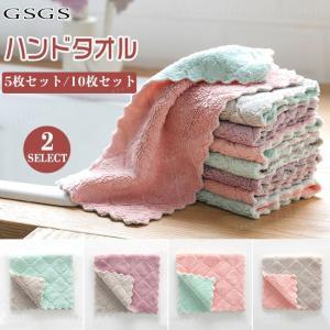 ハンドタオル 4枚セット キッチン用  手拭きタオル ナチュラルカラー 無地|gsgs-shopping