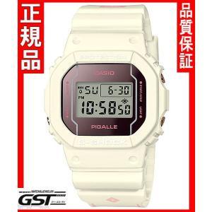 国内モデルGショックカシオDW-5600PGW-7JR ピガール タイアップモデル 腕時計(白色〈ホワイト〉)|gst