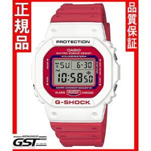 限定品GショックカシオDW-5600TB-4AJF THROW BACK 1983 腕時計(赤色〈レッド〉・白色〈ホワイト〉)|gst