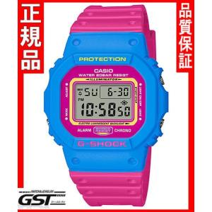 限定品GショックカシオDW-5600TB-4BJF THROW BACK 1983 腕時計(青色〈ブルー〉・桃色〈ピンク〉)|gst
