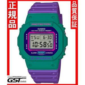 限定品GショックカシオDW-5600TB-6JF THROW BACK 1983 腕時計(緑色〈グリーン〉・紫色〈パープル〉)|gst
