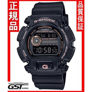 GショックカシオDW-9052GBX-1A4JF「ブラック&ゴールド」腕時計(黒色〈ブラック〉)|gst