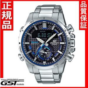 新品カシオ エディフィス ECB-800D-1AJF ソーラー腕時計メンズ銀色〈シルバー〉|gst