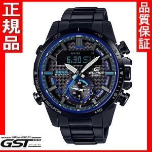 新品カシオ エディフィス ECB-800DC-1AJF ソーラー腕時計メンズ 黒〈ブラック〉|gst