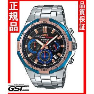 限定品エディフィスEFR-554TRJ-2AJR スクーデリア・トロ・ロッソ・リミテッドエディション カシオ腕時計メンズ(銀色〈シルバー〉)|gst