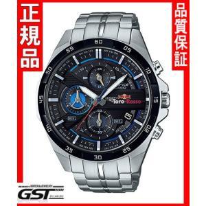 エディフィスEFR-556TR-1AJR「スクーデリア・トロ・ロッソ・リミテッドエディション」カシオ腕時計メンズ(銀色〈シルバー〉)|gst