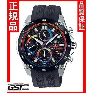 限定品エディフィスEFR-557TRP-1AJR スクーデリア・トロ・ロッソ・リミテッドエディション カシオ腕時計メンズ(黒色〈ブラック〉)|gst