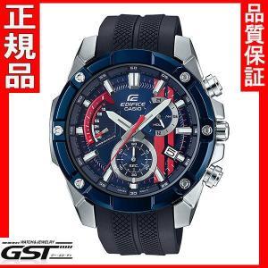 【新品 限定品】エディフィスEFR-559TRP-2AJR「スクーデリア・トロ・ロッソ」カシオ腕時計メンズ(銀色〈シルバー〉在庫アリ|gst