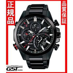 エディフィスEQB-501DC-1AJF「タイムトラベラーシリーズ」カシオソーラー腕時計メンズ(黒色〈ブラック〉)|gst