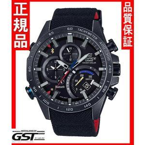 エディフィスEQB-501TRC-1AJR「スクーデリア・トロ・ロッソ・リミテッドエディション」カシオソーラー腕時計メンズ(黒色〈ブラック〉)|gst