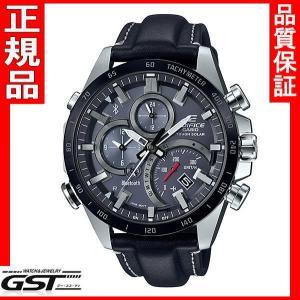 エディフィスEQB-501XBL-1AJF「EDIFICE」カシオソーラー腕時計メンズ(黒色〈ブラック〉)|gst