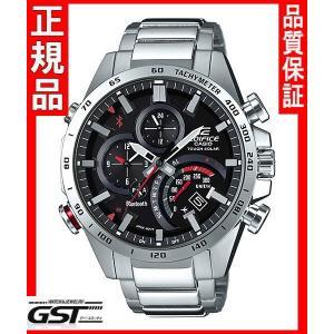 エディフィスEQB-501XD-1AJF タイムトラベラーシリーズ カシオソーラー腕時計メンズ(銀色〈シルバー〉)|gst