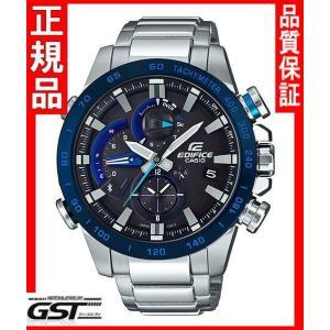 エディフィスEQB-800DB-1AJF「レースラップクロノグラフ〜EQB-800〜」カシオソーラー腕時計メンズ(銀色〈シルバー〉)|gst