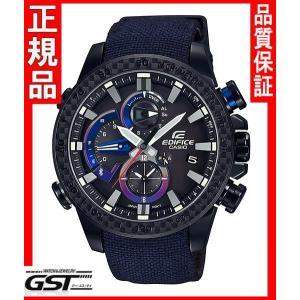 限定エディフィスEQB-800TR-1AJR「スクーデリア・トロ・ロッソ・リミテッドエディション」カシオソーラー腕時計メンズ(黒色〈ブラック〉)|gst