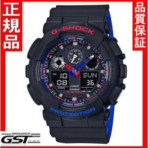 GショックG-SHOCKカシオGA-100LT-1AJF「レッド ブルー ホワイト 」腕時計|gst