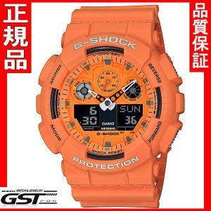 カシオGA-100RS-4AJFジーショック「Hot Rock Sounds」腕時計 送料無料 |gst