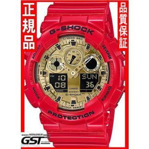 GショックカシオGA-100VLA-4AJF腕時計(赤色〈レッド〉)|gst