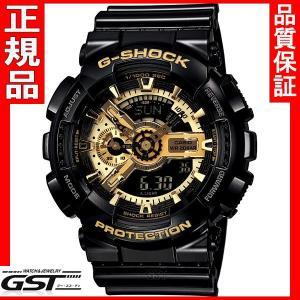 新品 正規保証 国内モデル G-SHOCK GショックCASIOカシオ GA-110GB-1AJF Black×Gold Series、メンズ黒色ブラック金色ゴールド|gst