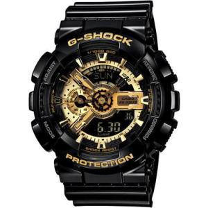 国内モデル ペア腕時計カシオGショック&ベビーG、GA-110GB-1AJF-BA-110-1AJF黒金ペアウォッチゴールド黒色ブラック正規保証書|gst|02