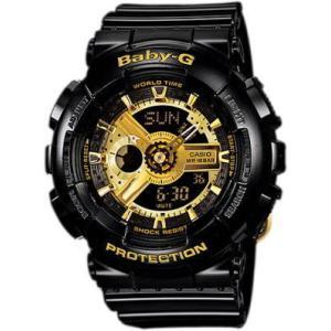 国内モデル ペア腕時計カシオGショック&ベビーG、GA-110GB-1AJF-BA-110-1AJF黒金ペアウォッチゴールド黒色ブラック正規保証書|gst|03
