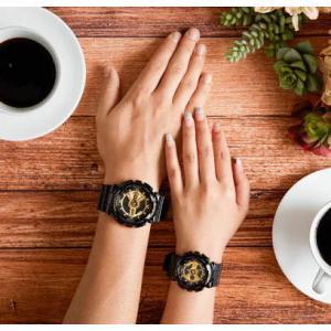 国内モデル ペア腕時計カシオGショック&ベビーG、GA-110GB-1AJF-BA-110-1AJF黒金ペアウォッチゴールド黒色ブラック正規保証書|gst|06