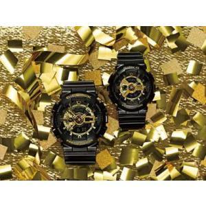 国内モデル ペア腕時計カシオGショック&ベビーG、GA-110GB-1AJF-BA-110-1AJF黒金ペアウォッチゴールド黒色ブラック正規保証書|gst|08