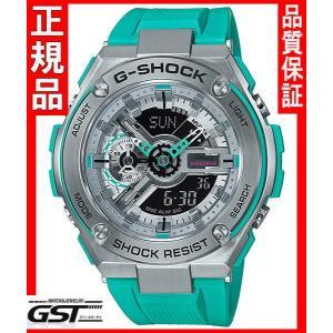 GショックカシオGST-410-2AJF「G-STEEL」腕時計(緑色〈グリーン〉)|gst