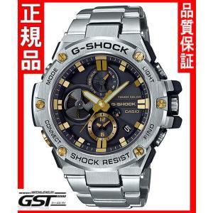 GショックカシオGST-B100D-1A9JF「G-STEEL」ソーラー腕時計(銀色〈シルバー〉)|gst