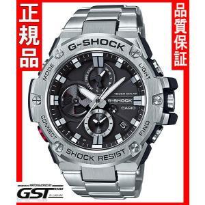 GショックカシオGST-B100D-1AJF「G-STEEL 」ソーラー腕時計(銀色〈シルバー〉)|gst