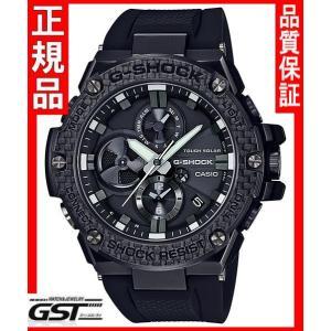 新品】広告モデル】GショックカシオGST-B100X-1AJF「G-STEEL Carbon Edition」ソーラー腕時計(黒色〈ブラック〉)在庫アリ|gst