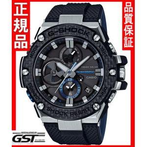 国内モデル カシオGショックG-SHOCKジーショックGST-B100XA-1AJF G-STEEL ソーラー腕時計 黒色ブラック|gst